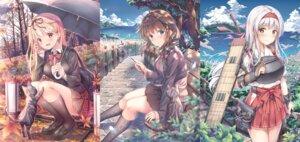 Rating: Safe Score: 32 Tags: armor kantai_collection neko seifuku shigure_(kancolle) shoukaku_(kancolle) skirt_lift sweater umbrella weapon yuriko_(jun&yuri) yuudachi_(kancolle) User: BattlequeenYume