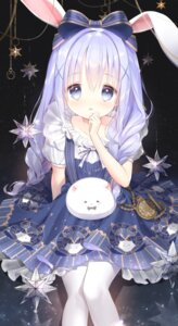 Rating: Safe Score: 87 Tags: animal_ears bunny_ears dress gochuumon_wa_usagi_desu_ka? kafuu_chino siloteddy tippy_(gochuumon_wa_usagi_desu_ka?) User: Mr_GT