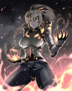 Rating: Safe Score: 35 Tags: genderswap genos kurobuchi_numama mecha_musume one_punch_man torn_clothes User: Mr_GT