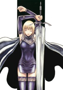 Rating: Safe Score: 42 Tags: clare claymore dress sword thighhighs yagi_norihiro User: Radioactive