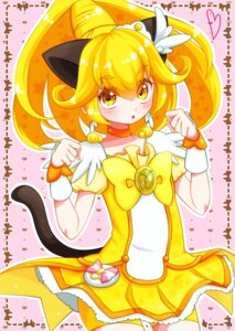 Rating: Safe Score: 13 Tags: animal_ears bike_shorts dress kise_yayoi nekomimi pretty_cure smile_precure! tail yupiteru User: cosmic+T5