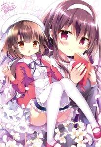 Rating: Safe Score: 33 Tags: azumi_kazuki dress kasumigaoka_utaha katou_megumi saenai_heroine_no_sodatekata saenai_heroine_no_sodatekata_flat thighhighs User: Twinsenzw