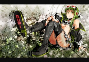 Rating: Safe Score: 18 Tags: fishnets gumi nou thighhighs underboob vocaloid User: shizukane