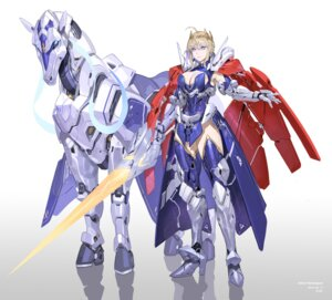 Rating: Safe Score: 18 Tags: artoria_pendragon_(lancer) cleavage fate/grand_order heels mecha sohn_woohyoung sword thighhighs User: Radioactive