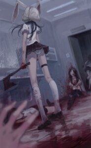 Rating: Questionable Score: 71 Tags: blood guro seifuku silverwing thighhighs User: blooregardo