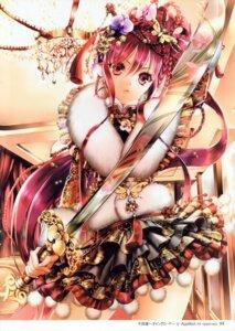 Rating: Safe Score: 40 Tags: cocoon_(loveririn) furyou_michi_~gang_road~ lolita_fashion ponytail sword wa_lolita User: yong
