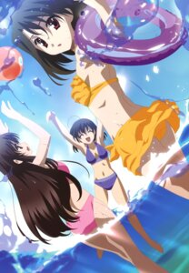 Rating: Safe Score: 53 Tags: bikini gotou_junji katsura_kotonoha kiyoura_setsuna saionji_sekai scanning_resolution school_days summer_days swimsuits User: blooregardo
