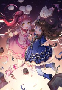 Rating: Safe Score: 27 Tags: azit_(down) dress heels kurosu_aroma pripara shiratama_mikan thighhighs User: sym455