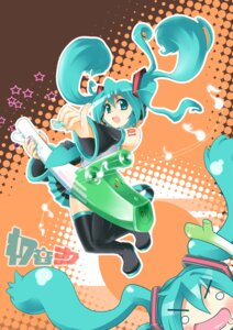 Rating: Safe Score: 4 Tags: bokushi hatsune_miku thighhighs vocaloid User: Radioactive