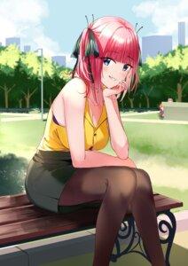 Rating: Safe Score: 39 Tags: 5-toubun_no_hanayome bra cleavage nakano_nino nonbiri pantyhose User: Arsy