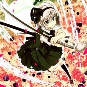 Rating: Safe Score: 21 Tags: konpaku_youmu sazanami_mio sword touhou User: Radioactive