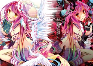 Rating: Safe Score: 27 Tags: ass digital_version jibril_(no_game_no_life) kamiya_yuu no_game_no_life tattoo wings User: kiyoe