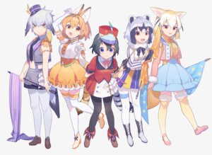 Rating: Safe Score: 19 Tags: animal_ears common_raccoon fennec heiwa_(murasiho) kaban_(kemono_friends) kemono_friends pantyhose serval shoebill tail thighhighs User: Mr_GT