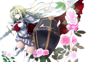 Rating: Safe Score: 43 Tags: armor cornelia_(sennen_sensou_aigis) ihara_natsume sennen_sensou_aigis sword thighhighs User: mash