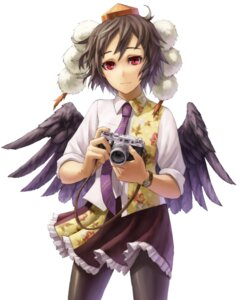 Rating: Safe Score: 3 Tags: kurione shameimaru_aya touhou wings User: Radioactive