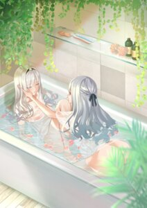 Rating: Questionable Score: 1 Tags: ak-12_(girls_frontline) an-94_(girls_frontline) ass bathing bottomless girls_frontline gonzz no_bra see_through wet wet_clothes yuri User: yanis