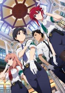 Rating: Safe Score: 29 Tags: iwaizumi_shou koumi_haruka rail_wars! sakurai_aoi_(rail_wars!) tagme takayama_naoto uniform User: saemonnokami