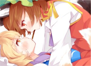 Rating: Safe Score: 38 Tags: animal_ears chen japa tail touhou yakumo_ran yuri User: Mr_GT