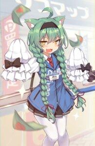 Rating: Safe Score: 32 Tags: akashi_(azur_lane) animal_ears azur_lane pantyhose shinopoko sofmap uniform User: Nepcoheart