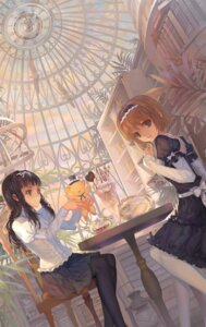 Rating: Safe Score: 64 Tags: card_captor_sakura daidouji_tomoyo dress gothic_lolita kerberos kinomoto_sakura lolita_fashion paku pantyhose see_through User: Mr_GT