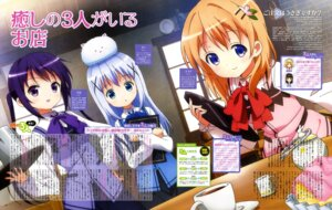 Rating: Safe Score: 26 Tags: gochuumon_wa_usagi_desu_ka? hoto_cocoa kafuu_chino okuda_yousuke tedeza_rize tippy_(gochuumon_wa_usagi_desu_ka?) waitress User: drop