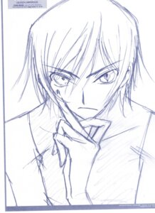 Rating: Safe Score: 7 Tags: code_geass lelouch_lamperouge male monochrome ochiai_hitomi sketch User: BuSy