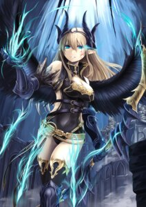 Rating: Safe Score: 27 Tags: armor cleavage elusya horns leotard pointy_ears tattoo thighhighs weapon wings User: Mr_GT