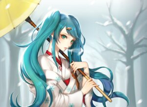 Rating: Safe Score: 26 Tags: aegyo hatsune_miku kimono umbrella vocaloid yuki_miku User: charunetra