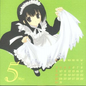 Rating: Safe Score: 5 Tags: calendar maid mitsumi_misato paper_texture User: Riven