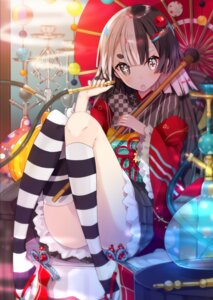 Rating: Safe Score: 46 Tags: heterochromia japanese_clothes sakofu thighhighs umbrella User: Mr_GT