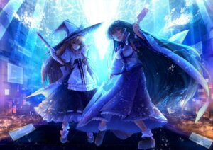 Rating: Safe Score: 21 Tags: eho_(icbm) kirisame_marisa kochiya_sanae touhou witch User: fairyren