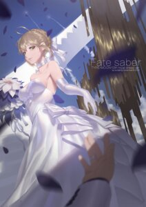 Rating: Safe Score: 35 Tags: dress fate/grand_order ounijang saber wedding_dress User: Mr_GT