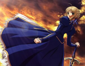 Rating: Safe Score: 31 Tags: dress fate/stay_night ishihara_megumi saber sword User: Aurelia