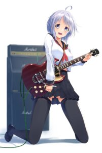 Rating: Safe Score: 53 Tags: guitar nishinomiya_suzu seifuku thighhighs User: Mr_GT