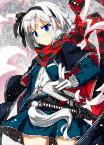 Rating: Safe Score: 47 Tags: konpaku_youmu sazanami_mio sword touhou User: Mr_GT