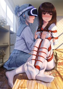 Rating: Questionable Score: 141 Tags: bondage breast_hold feet haneru pantyhose seifuku yuri User: Mr_GT