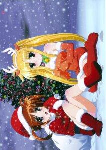 Rating: Safe Score: 11 Tags: christmas fate_testarossa mahou_shoujo_lyrical_nanoha okuda_yasuhiro pantsu screening takamachi_nanoha User: noirblack