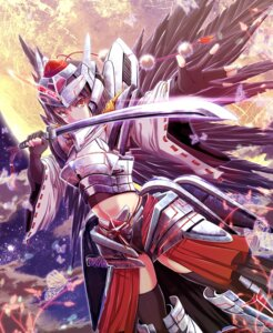 Rating: Safe Score: 24 Tags: armor shameimaru_aya sword touhou windfeathers wings User: 椎名深夏