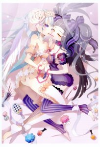 Rating: Questionable Score: 19 Tags: cleavage dress symmetrical_docking tagme thighhighs wings User: fireattack