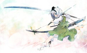 Rating: Safe Score: 18 Tags: konpaku_youmu nanaroku sword touhou User: hobbito