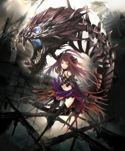 Rating: Safe Score: 73 Tags: kyubere lord_of_vermilion monster nil sword thighhighs User: MadMan