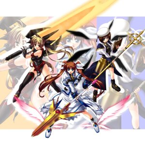 Rating: Safe Score: 9 Tags: fate_testarossa iga_tamaki mahou_shoujo_lyrical_nanoha mahou_shoujo_lyrical_nanoha_strikers takamachi_nanoha yagami_hayate User: Syko83