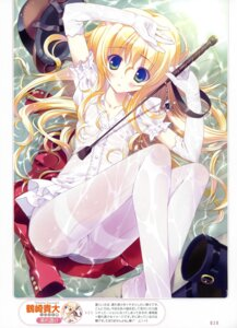 Rating: Questionable Score: 112 Tags: dress lolita_fashion pantyhose tsurusaki_takahiro wet_clothes User: crim