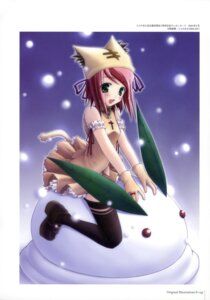 Rating: Safe Score: 12 Tags: amane_sou tail thighhighs User: Radioactive