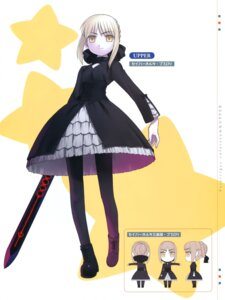 Rating: Safe Score: 14 Tags: fate/stay_night fate/tiger_colosseum hirai_yukio pantyhose saber saber_alter User: Radioactive
