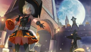 Rating: Safe Score: 35 Tags: animal_ears ccaw dress halloween nekomimi tail thighhighs witch User: Mr_GT