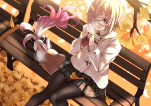 Rating: Safe Score: 43 Tags: fate/grand_order fou_(fate/grand_order) mash_kyrielight megane pantyhose tagme User: Mr_GT