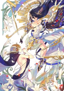 Rating: Safe Score: 56 Tags: armor cleavage dress mansu no_bra weapon wings User: Mr_GT