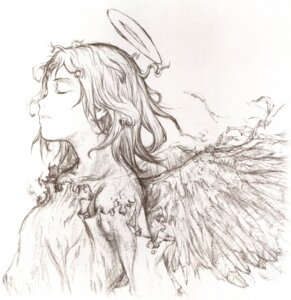 Rating: Safe Score: 9 Tags: abe_yoshitoshi haibane_renmei monochrome rakka wings User: Radioactive