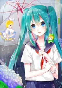 Rating: Safe Score: 24 Tags: chibi dress hatsune_miku kagamine_len kagamine_rin seifuku tsukasa_(pixiv34617881) umbrella vocaloid User: Mr_GT